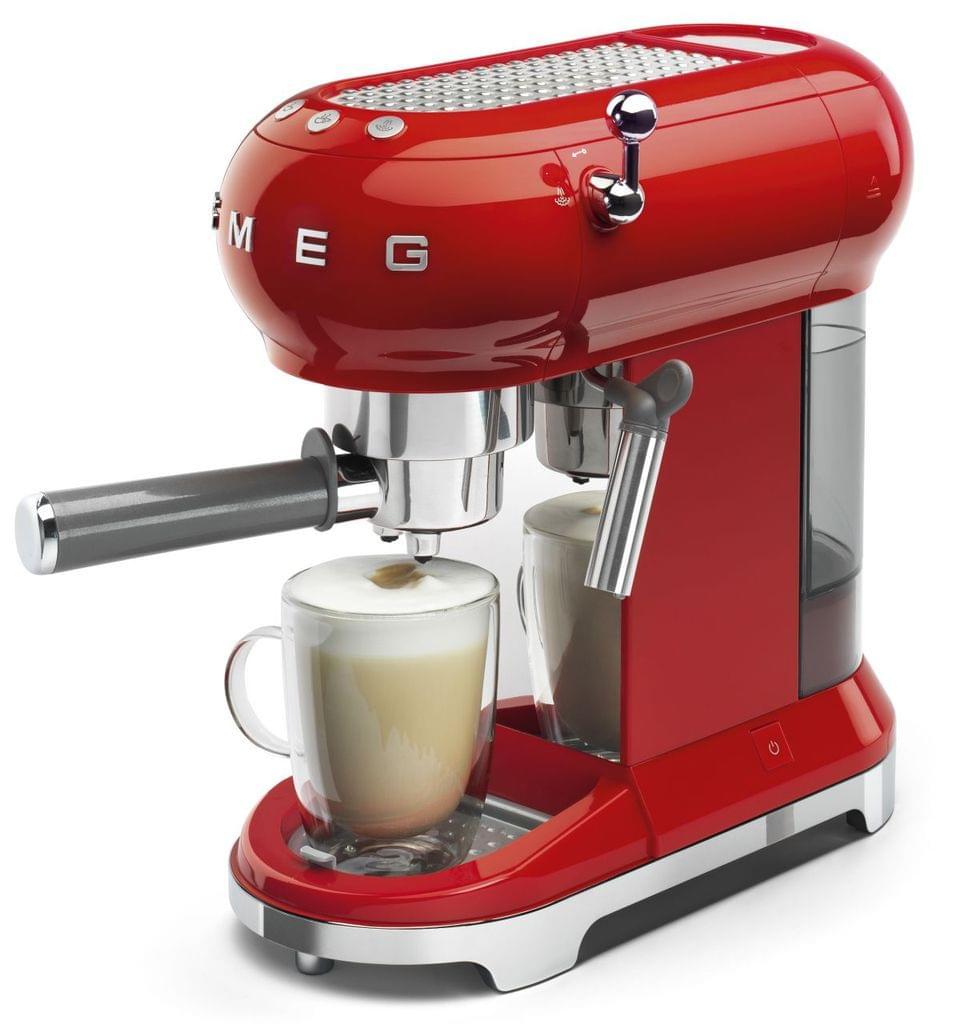 SMEG 50's Style Coffee Machine - Red (ECF01RDAU)