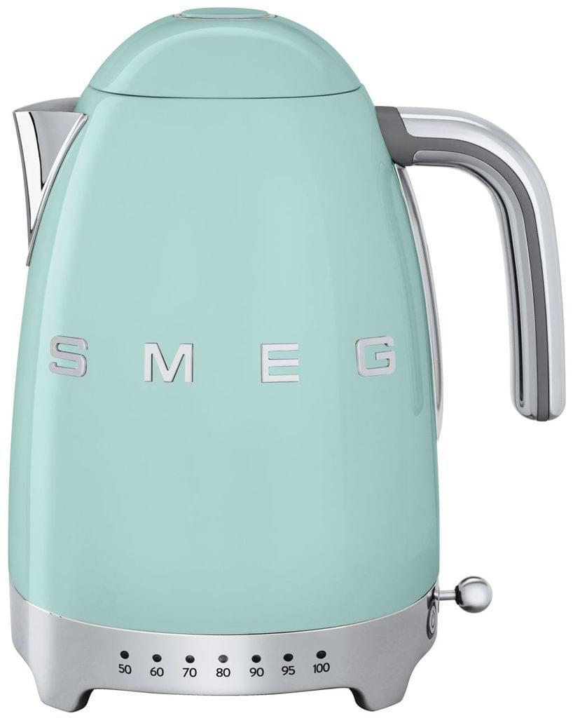 SMEG 1.7L 50's Style Variable Temperature Kettle - Pale Green (KLF04PGAU)
