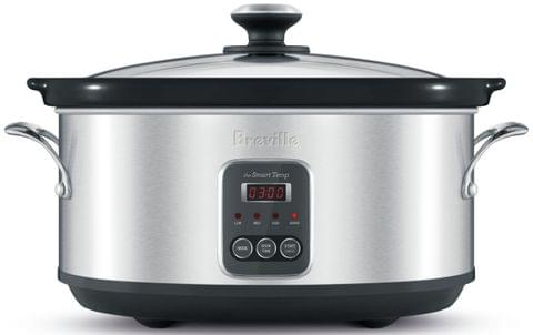 BREVILLE The Smart Temp Slow Cooker - Stainless Steel