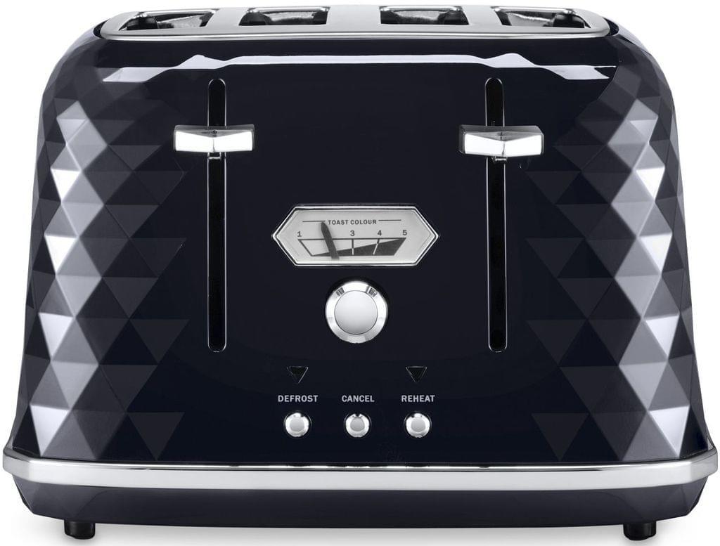DELONGHI Brillante 4 Slice Toaster - Black (CTJX4003BK)