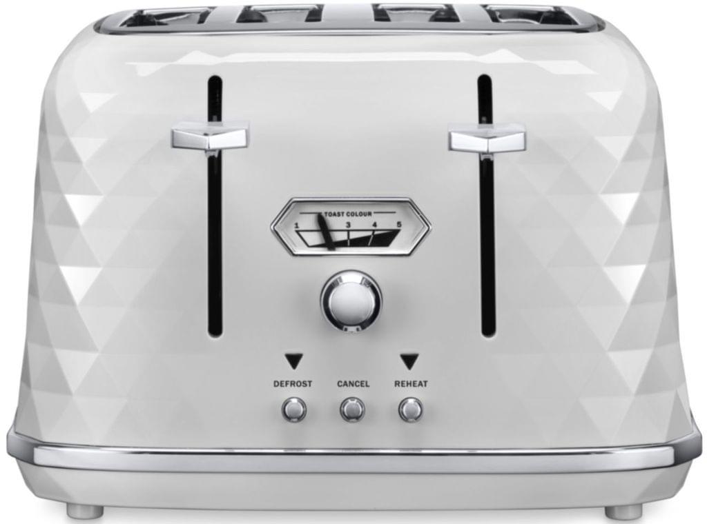 DELONGHI Brillante 4 Slice Toaster - White (CTJX4003W)