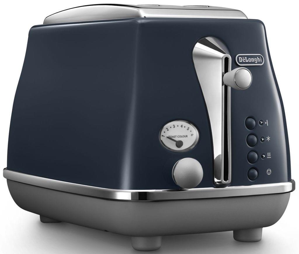 Delonghi Icona Capitals 2 Slice Toaster Blue Ctoc2003bl