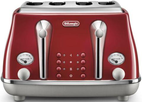 DELONGHI Icona Capitals 4 Slice Toaster - Red (CTOC4003R)