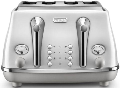 DELONGHI Icona Capitals 4 Slice Toaster - White (CTOC4003W)