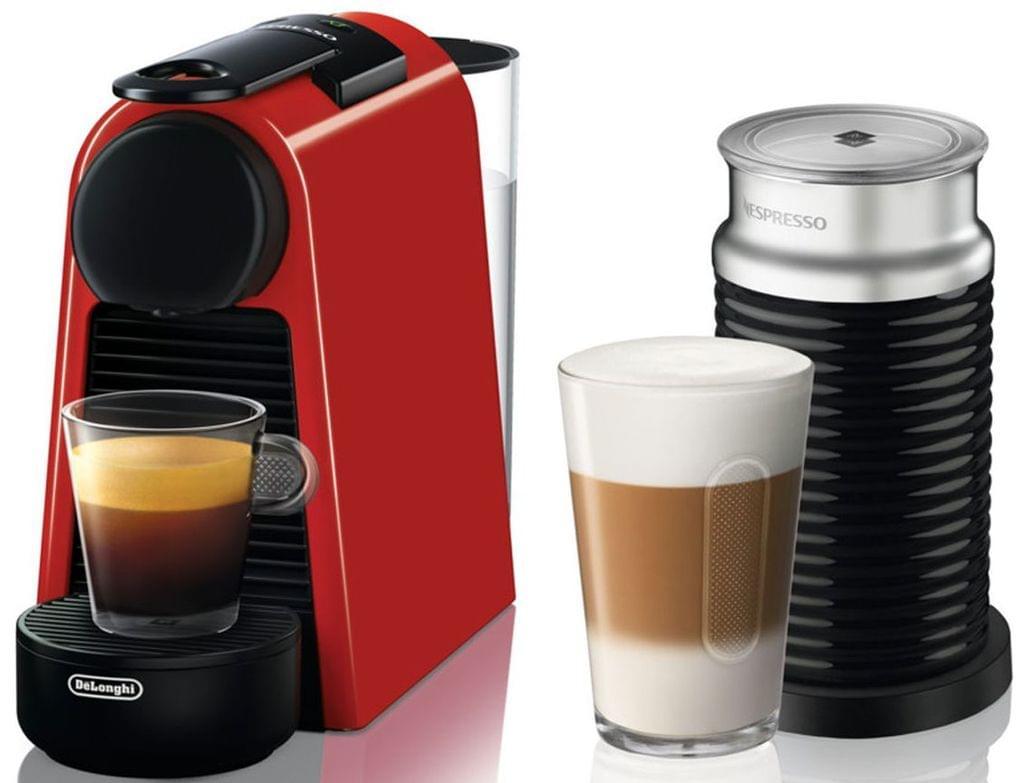 DELONGHI Nespresso Essenza Mini & Milk Coffee Machine - Red (EN85RAE)