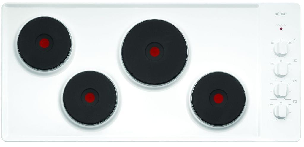 CHEF 90cm Electric Solid Element Cooktop