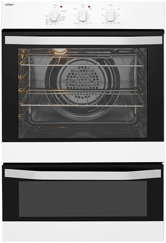 CHEF 60cm Built-In Electric Oven With Separate Grill  WHITE