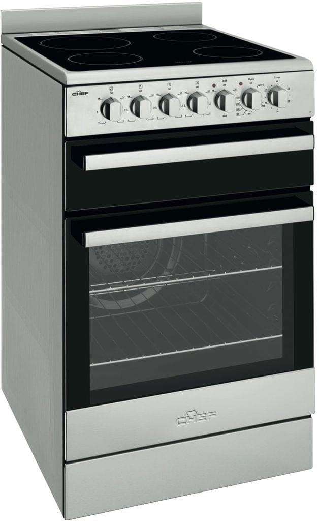 CHEF 54cm Electric F/F Oven Upright Separate Grill and Ceramic glass