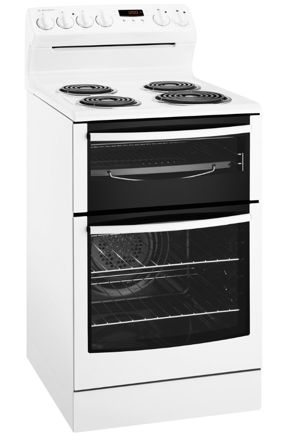 WESTINGHOUSE 54cm Upright Cooker with Fan Forced oven White (WLE527WA)