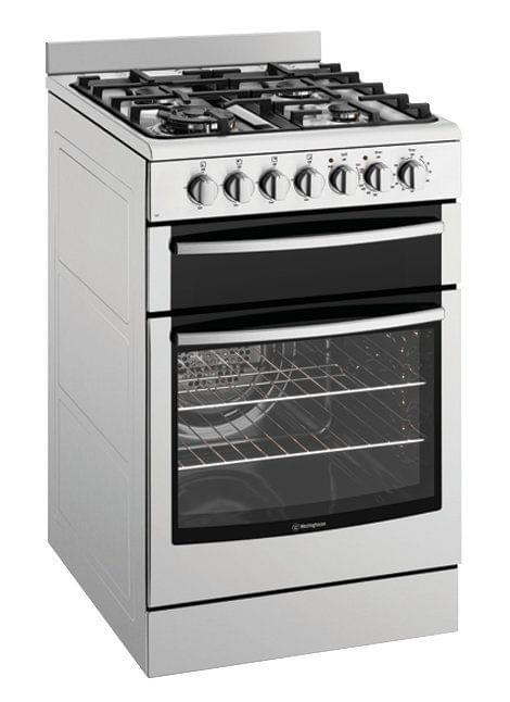 WESTINGHOUSE 54cm Dual Fuel Upright Cooker Front Control (WFE517SA)