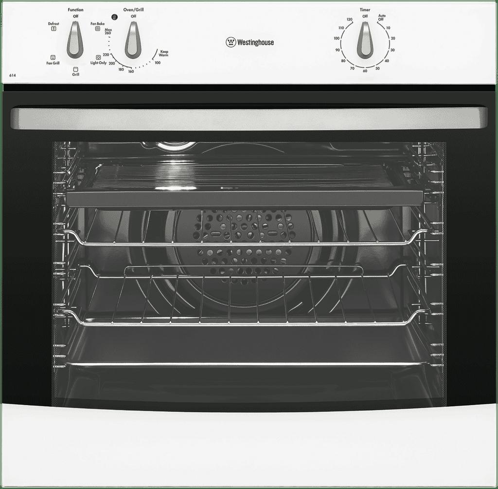 WESTINGHOUSE 60cm Built In Fan Forced Oven White (WVE614WA)