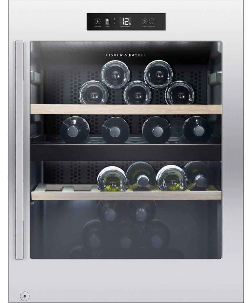 F&P 50 Bottle 106L F/Standing Wine Cabinet Dual Zone (RF106RDWX1)