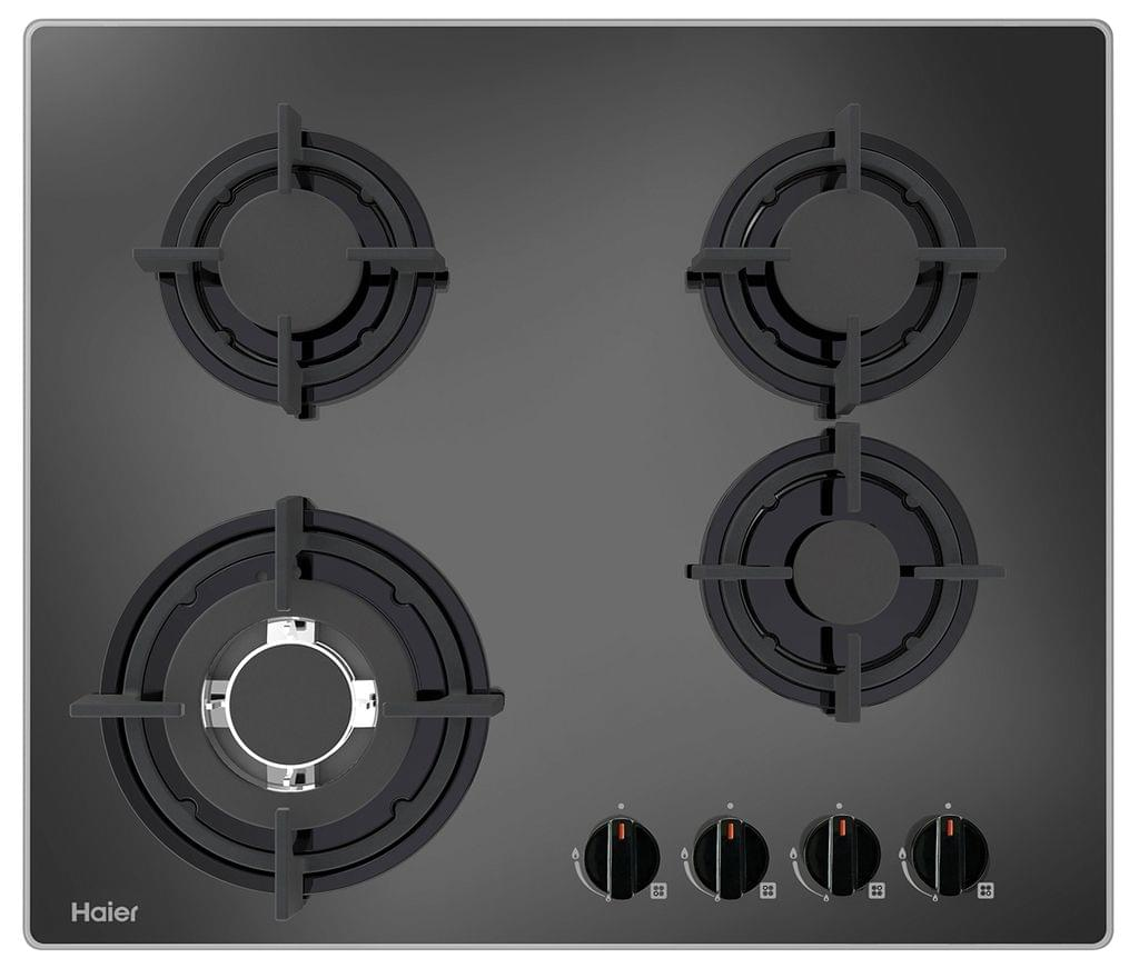 HAIER 60cm Gas Cooktop 4 Burner w/ Wok - Glass (HCG604WFCG1)