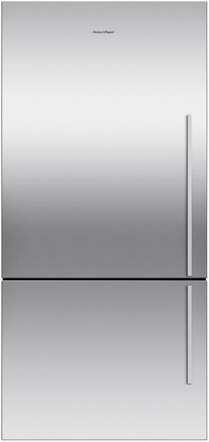 F&P 519 Litre Bottom Mount Refrigerator - Visible Handl (RF522BLGX6)