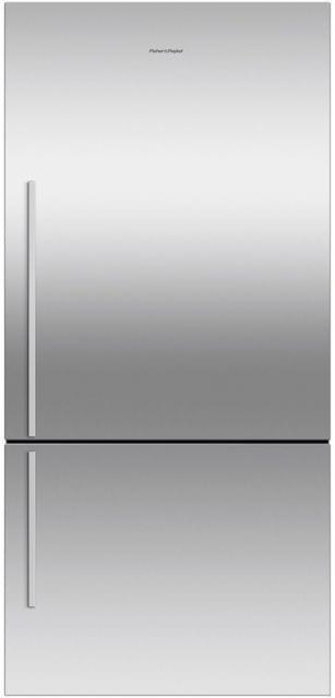 F&P 519 Litre Bottom Mount Refrigerator - Visible Handl (RF522BRGX6)