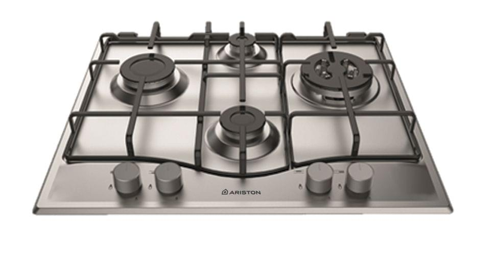 ARISTON 60cm Gas Cooktop - Flame Failure and Wok Burner