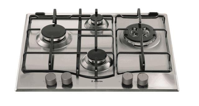 ARISTON 60cm Gas Cooktop - Flame Failure, Cast Iron Trivets (PC640TGHAUS1)