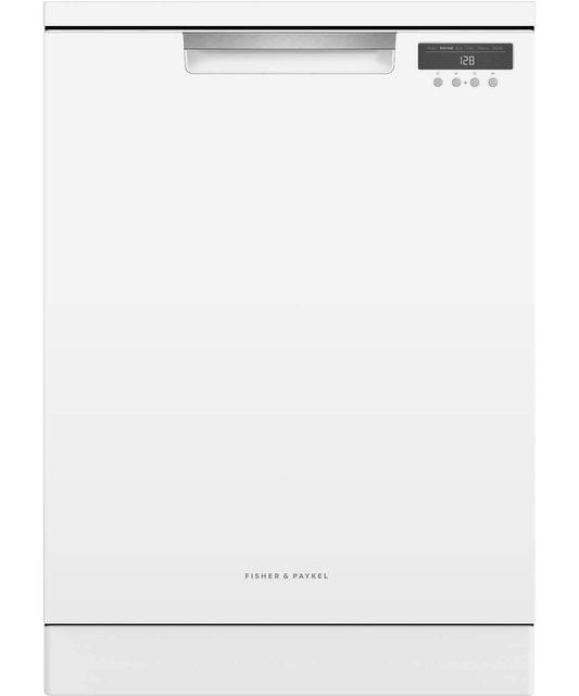 F&P 60cm Freestanding Dishwasher 5 Star WELS White