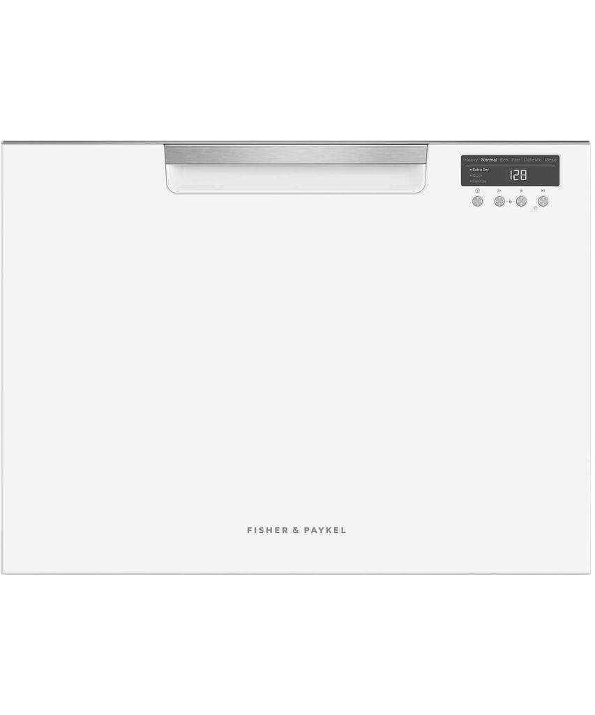 F&P 60cm Tall Single Dishdrawer - White (DD60SCTW9)