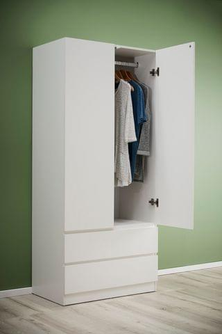 Como 2 Door Wardrobe White