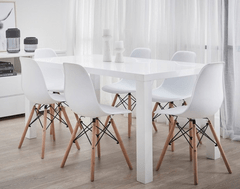 Verona 7 Piece Dining Set With Replica Eames Chairs
