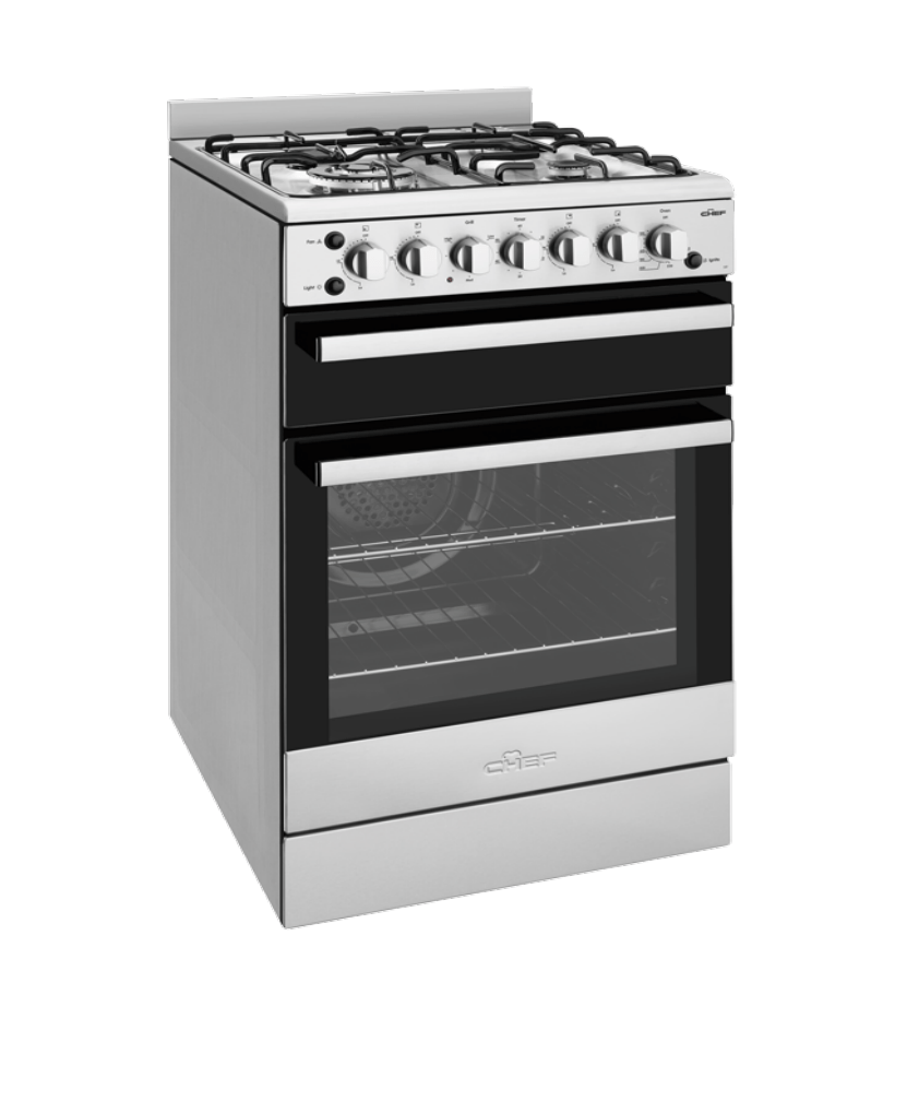Chef 54cm Freestanding Cooker LPG - White