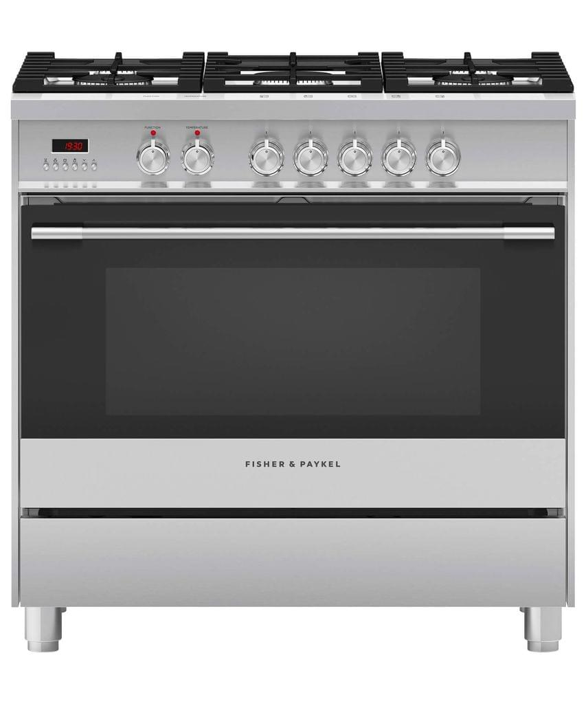 Fisher &Paykel 90cm Upright Cooker Dual Fuel 7 Function S/S