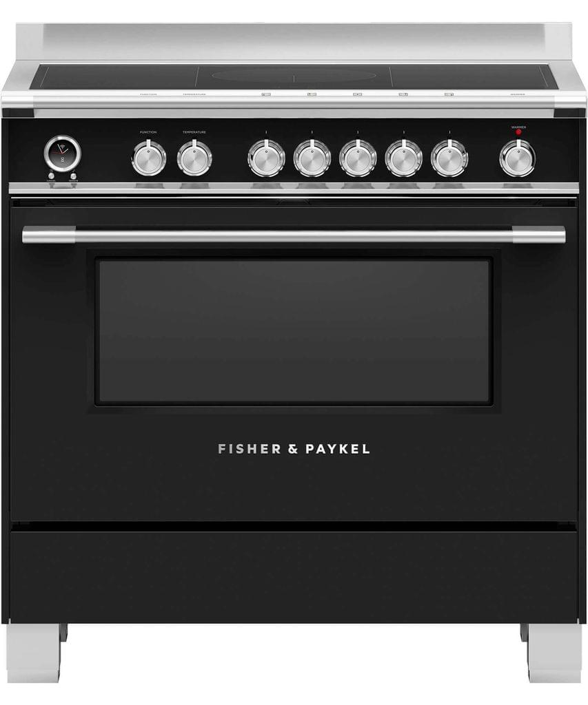 Fisher &Paykel 90cm Upright Cooker Induction 9 Function Blk