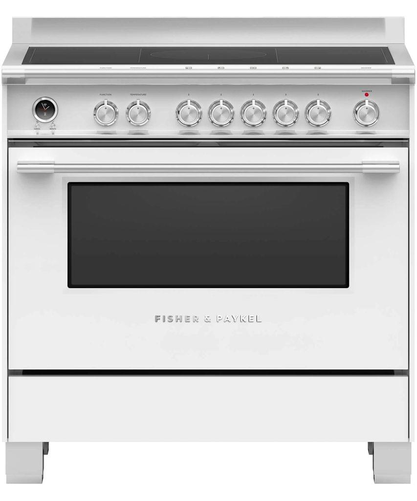 Fisher &Paykel 90cm Upright Cooker Induction 9 Function Wht