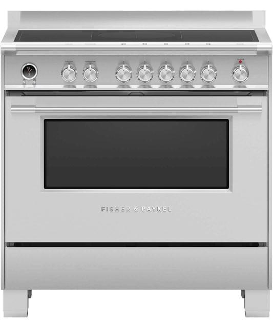Fisher &Paykel 90cm Upright Cooker Induction 9 Functions S/S