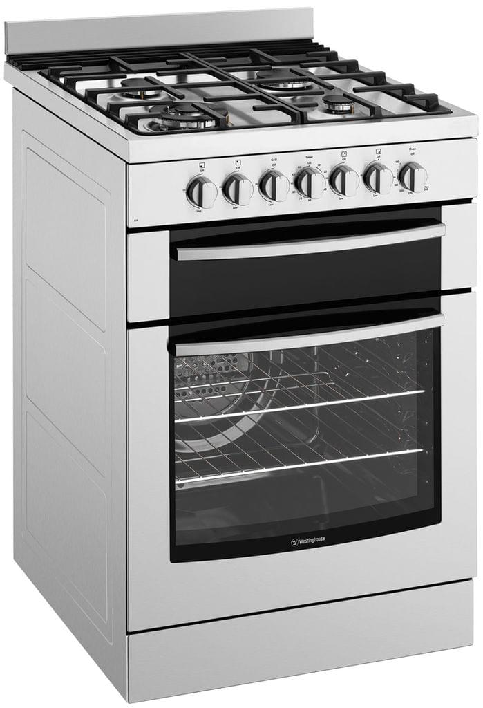 Westinghouse 60cm Freestanding Dual Fuel Upright Seperate Grill