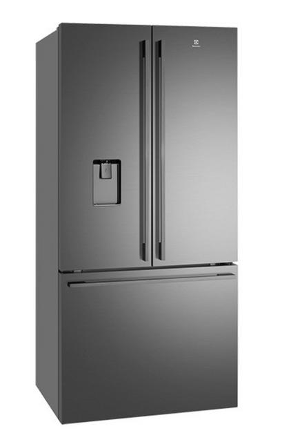 Electrolux 524L French Door Refrigerator Ice & Water Dark S/S