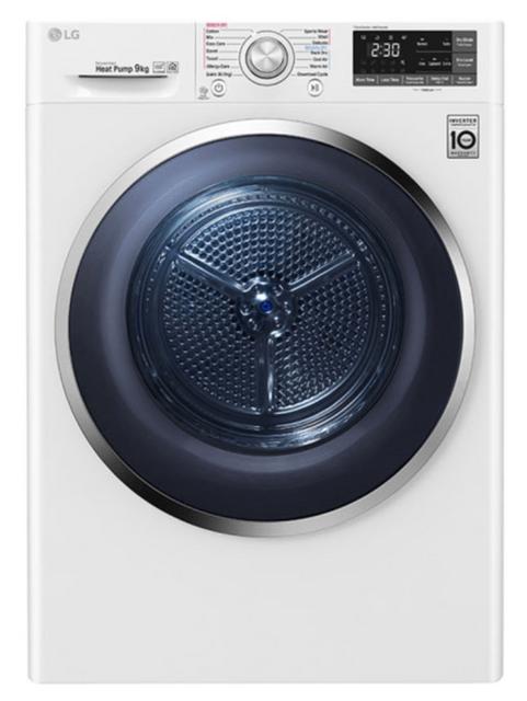 LG 9Kg Heat Pump Dryer 9*Energy White
