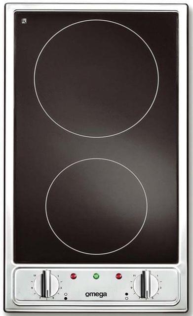 Omega Bassano Ceran 2 Plate Cooktop