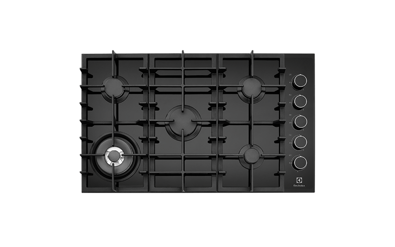 Electrolux 90cm Gas Wok F/F Cooktop Ceramic Glass with side controls