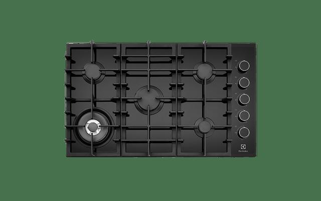Electrolux 90cm Gas  Wok F/F Cooktop Ceramic Glass C.I Trivets