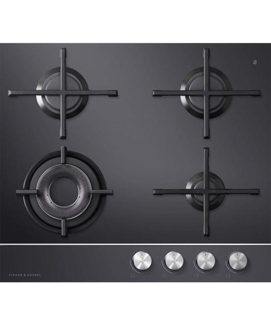 Fisher &Paykel 60cm 4 Burner Gas on Glass F/F Wok Cooktop