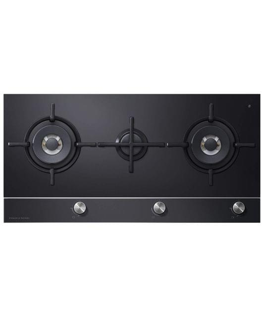 Fisher &Paykel 90cm 3 Burner Gas on Glass Cooktop S/S Trim F/Fail