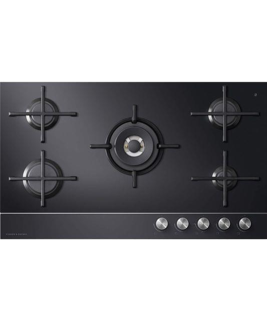 Fisher &Paykel 90cm Gas on Glass 5 Burner Cooktop W/-FFD- LPG GAS