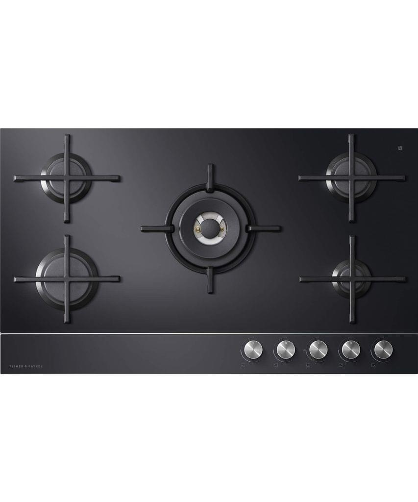 Fisher &Paykel 90cm Gas on Glass 5 Burner Cooktop W/-FFD- NAT GAS