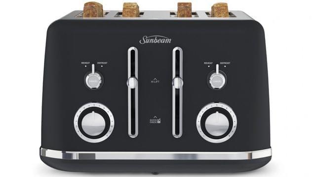 Sunbeam Alinea 4 Slice Toaster - Dark Canyon Black