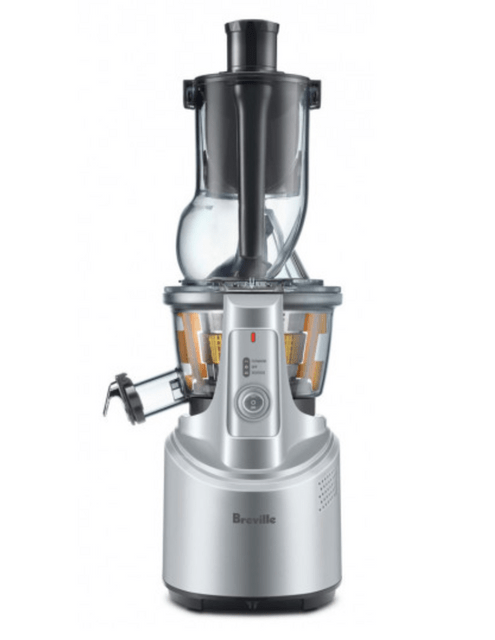 Breville the Big Squeeze Slow Compression Juicer in Silver
