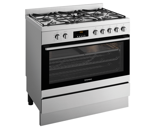 Westinghouse 90cm Dual Fuel Pyrolytic Freestanding Cooker Wht