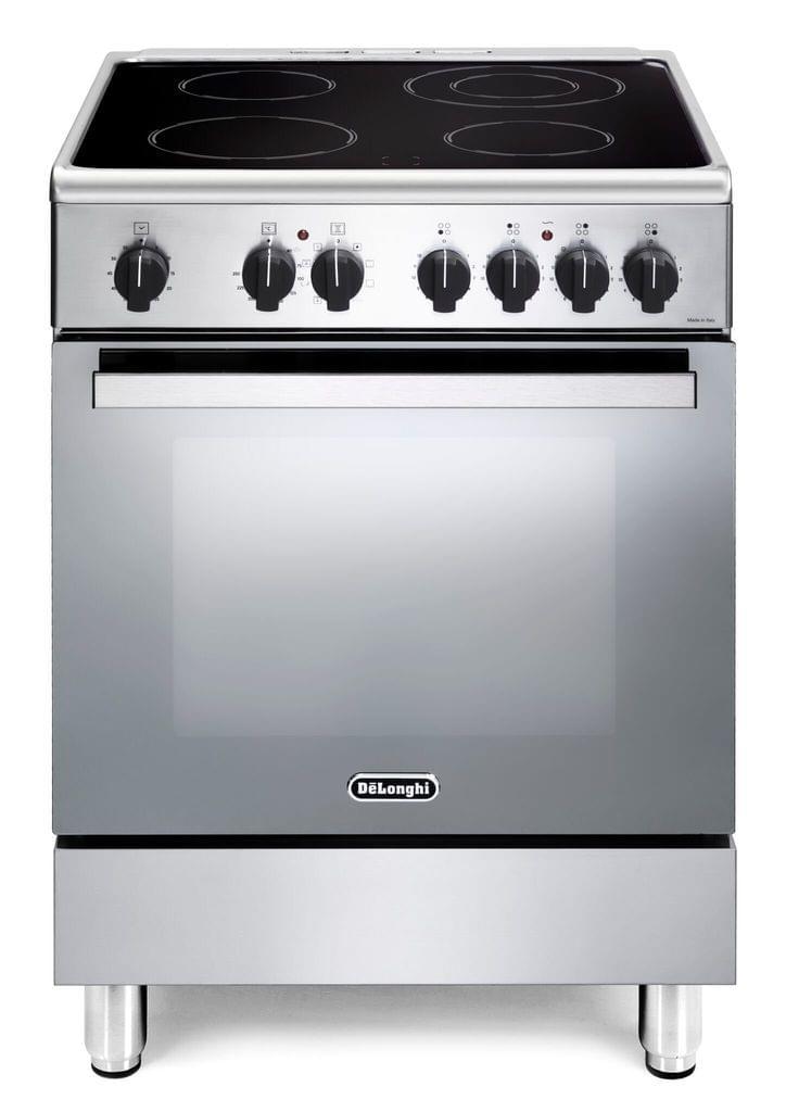 DeLonghi 60cm Electric Freestanding Cooker 4Brnr S/S