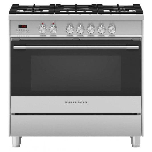 Fisher &Paykel 90cm Upright Cooker Dual Fuel 7 Func S/S