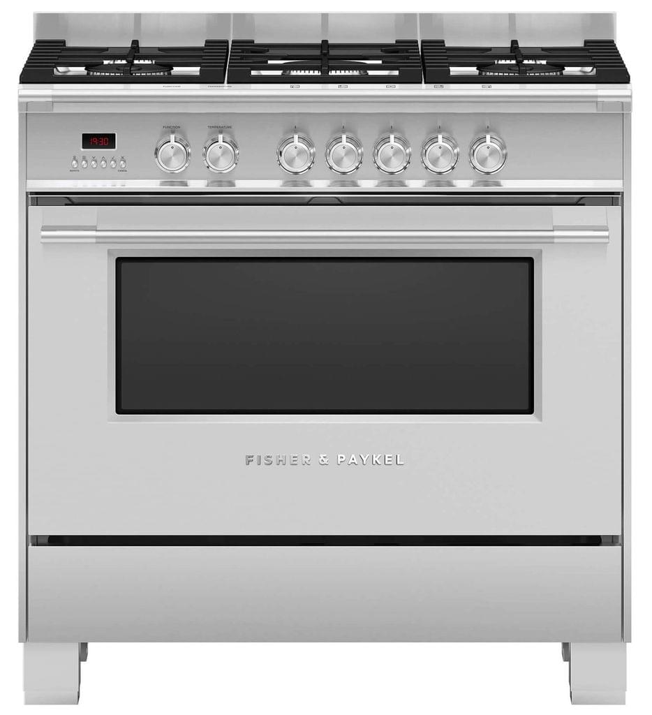 Fisher &Paykel 90cm Upright Cooker Dual Fuel 9 Func S/S