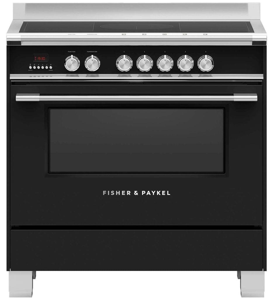 Fisher &Paykel 90cm Upright Cooker Induction 9 Functions Blk