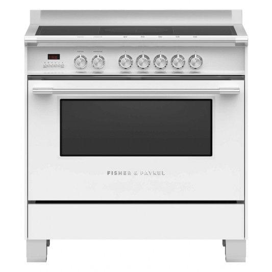 Fisher &Paykel 90cm Upright Cooker Induction 9 Functions Wht