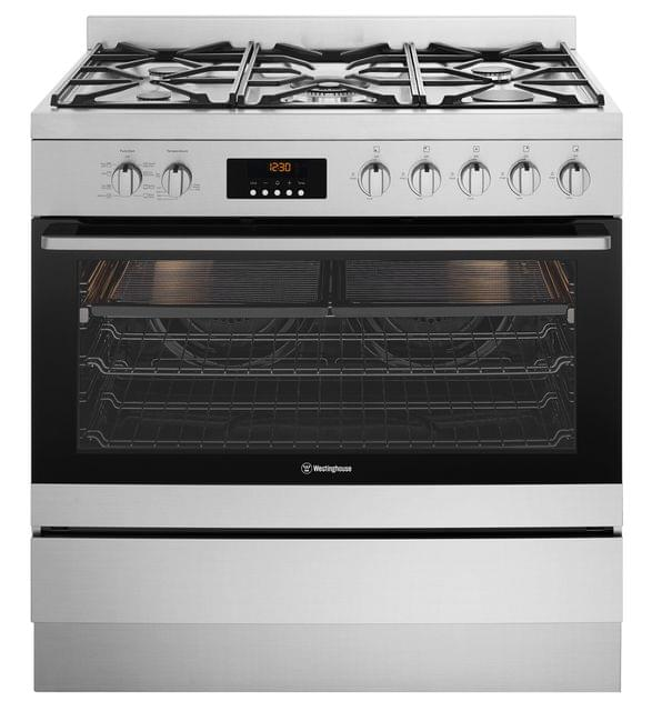 Westinghouse 90cm Dual Fuel Freestanding Cooker 8 Functions S/S