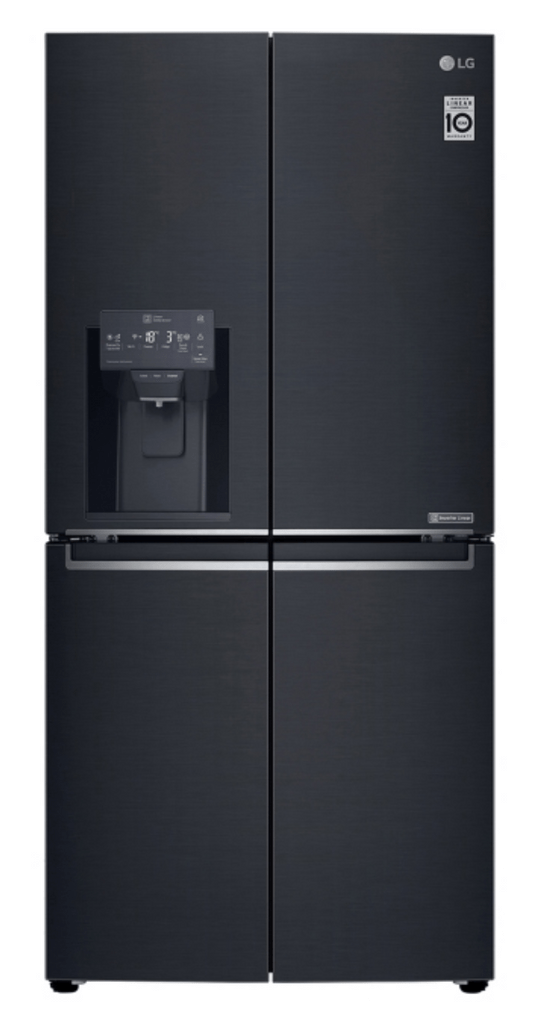 LG 570L Slim French Door Refrigerator Matte Black S/S